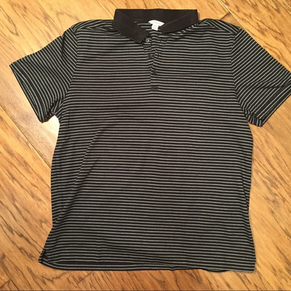 Calvin Klein Other - Calvin Klein black striped polo shirt